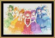 Rainbow Girls Cross Stitch Kit