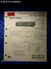 Sony Service Manual TC WA7ESA / WE505 / WE605S / WE705S / WR550Z (#1140)