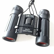 8x21 Quality Binoculars Small Compact Travel Pocket Lightweight Foldable Coated