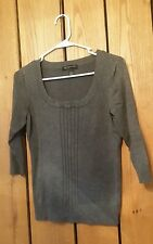 Womens Size PM INC International Concepts Half Sleeve Gray  Square Neck Sweater