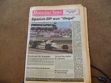 Motoring News 5 June 1980 Spanish GP Centurion & Acropolis Rally F2 March Test