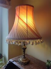 "VINTAGE ANTIQUE RETRO FRENCH CHIFFON PLEAT Pink Standard Table LAMPSHADE 13.5"" W"