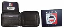 Zip Around Leather Men's Bifold Wallet Coin Case 6 Card I D 2 Bifolds New in Box