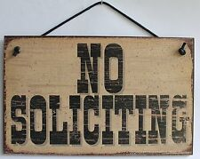 No Soliciting Sign Door Home Business House Trespassing Solicitors Entrance