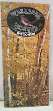 Vintage Washburn County Wisconsin Get Away From It All Map Brochure