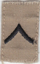 U.S. ARMY: Private Chevron, Black on Desert Tan. Issued Single.