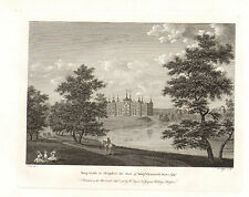 the seats of nobility & gentry 1787 -1815 engraving - tong castle. shropshire