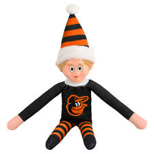 Baltimore Orioles Plush Christmas Elf - MLB Doll On The Shelf Stuffed Toy