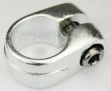 """Old school Suntour style BMX bicycle seat clamp 25.4mm (1"""") - SILVER ANODIZED"""