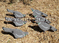 6 x Flocked Pigeon Decoys /Pigeon shell decoy includes Peg/ Same day UK shipping