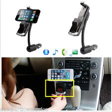 Bluetooth Handsfree FM Transmitter Car Charger MP3 Phone Mount Holder W/ Remote