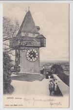 AK Graz, Uhrturm, Kinder in Tracht, 1913