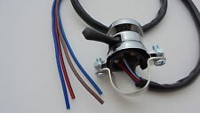 REPLICA LUCAS CHROME clamp on PUSH BUTTON HORN + KILL SWITCH,BSA,TRIUMPH LU31563
