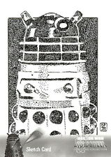 Dr Doctor Who Big Screen Additions Mono Sketch Card by Don Pedicini /8