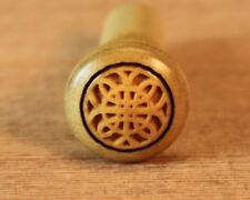 End Pin for Guitar (1) Boxwood with Engraved Celtic Rosette