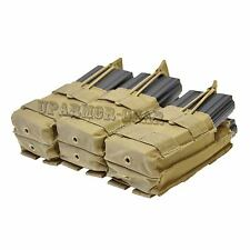 MOLLE Triple Stacker for Six 5.56 mm .223 Rifle Mag Pouch TAN (CONDOR MA44)