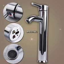 """Stainless Steel 12"""" Tall Bathroom Vessel Sink Faucet - One Hole / Handle Taps US"""