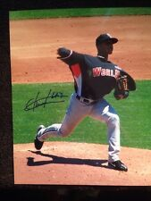Fautino de los Santos Signed Autographed 8X10 Baseball Photo Single Auto Picture