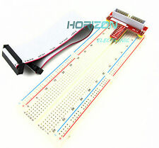 Raspberry Pi GPIO extension adapter + MB102 breadboard + 26pin GPIO ribbon cable