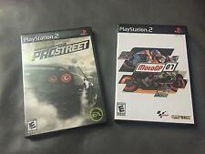 PLAY STATION 2 GAMES NEED FOR SPEED PRO STREET & MOTO GP 07 ..