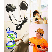 3.5mm Sports Earclip Clip on Hook Stereo Headphone Earphone for Phone MP4 MP3 PC