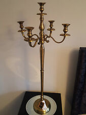 New 100cm Tall Gold Chic 5 arm Antique Effect Candelabra Wedding Centre Piece