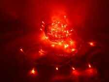 100 Red Led Chasing Lights - Clear Cable - 6.9m Lit Length (L188)