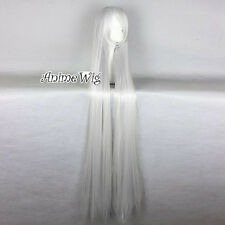 New Anime 150CM Long Silver White Straight Women Lady Fashion Cosplay Hair Wig