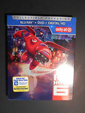 New Disney Big Hero 6 (Blu-ray/DVD, 2 Disk Set) Target Exclusive Steelbook