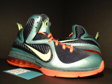 Nike Air Max LEBRON IX 9 CANNON VOLT GREEN SLATE BLUE ORANGE 469764-004 NEW 12
