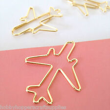Paper clips Gold Travel Planner Accessories Airplane Aeroplane Paperclip