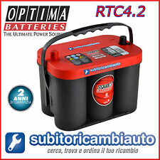 BATTERIA OPTIMA RTC4.2 REDTOP ROSSA 50Ah RT C 4.2