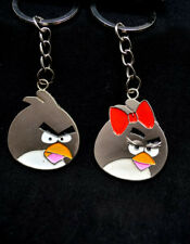 Couple angry bird keyrings cartoon pair angry bird gift keychain key rings