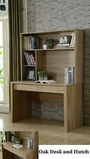 OLIVE ORION OFFICE STUDENT COMPUTER DESK & HUTCH BOOKCASE 2 DRAWERS IN OAK