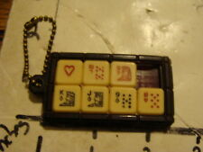 -scarce, SLIDE PUZZLE SOLITAIRE with card pieces Key Chain