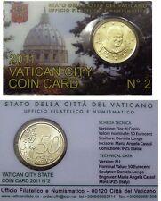 ** Coincard 2011 Vaticaan Vatikan Vatican Vaticano City Coincard No.2 50 cents**