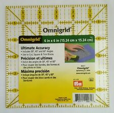 """Omnigrid, Square Ruler, 6"""" x 6"""""""