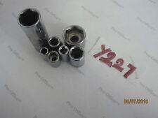 """Lot of 7 SOCKETS 6 PT 1/4'' & 3/8"""" DR 16mm 12mm 10mm 9mm 3/4'' 1/4''"""