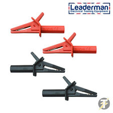LDM119 600volt x2 Red and Black Crocodile Clips for Multimeters and Clampmeters