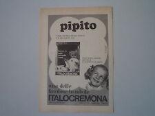 advertising Pubblicità 1973 BAMBOLA PIPITO ITALOCREMONA ITALO CREMONA
