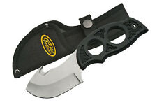 Gut Hook Fixed Blade Hunting knife Molded Rubber handle with sheath