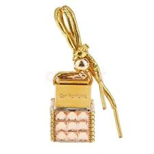 6ML Square Bottle Empty Perfume Bottle Car Home Hanging Charm - Champagne