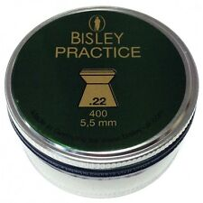 Bisley -Practice.22 -Flat heads Rifle Gun Pellets 400 Tin Airgun Target Plinking