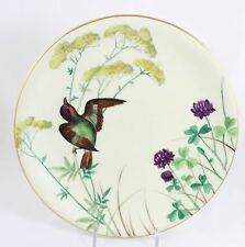 FAB OLD ANTIQUE MINTON CHINA ESSEX BIRDS CABINET PLATE HAND PAINTED FLOWERS GOLD