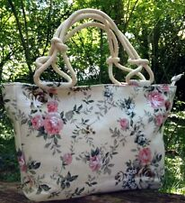 NEW HANDBAG TRAVEL BAG HOLDALL VINTAGE WOMENS FLORAL TOTE RETRO BEACH HOBO