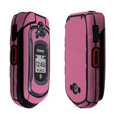 Skinomi Pink Carbon Fiber Skin+Clear Screen Protector for Kyocera DuraXE