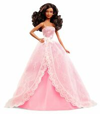 BARBIE 2015 BIRTHDAY WISHES DOLL BLACK HAIR CHF93 AA *NEW*
