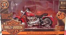 2002 Harley Davidson Fatboy Red 1:18 Ertl American Muscle 33169