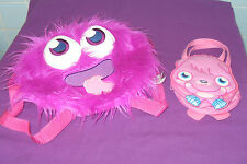 IGGY THE PURPLE MOSHI MONSTERS CHILDRENS KIDS  RUCKSACK SCHOOL BAG & FREE BAG