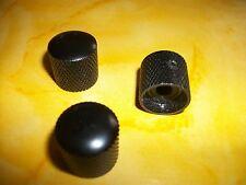 NEW 3 Boutons métal noirs  pour toutes guitares